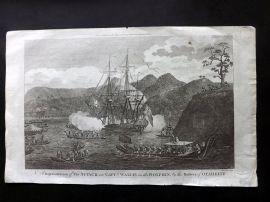 Cook, Anderson, Hogg 1784 Attack on Capt. Wallis & Dolphin by Natives of Tahiti